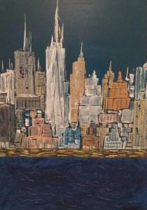 PAPPONE LEONARDO Leopapp tecnica misto acrilici su tela  misure  cm 50x70 titolo Vieew of Manhattan  anno 2014.jpg