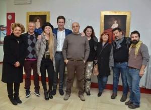foto gruppo artisti partecipanti alla rassegna Unifortunart dicembre 2014