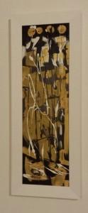 leopapp titolo tenebre urbane tecnica acrilico e resine su legno misure cm 24x80 anno 2013