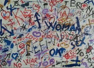 leopappTitolo Graffiti  serie 7 1 - tecnica misto acrilico su tela ; dimensioni cm 50x70  anno 2014; prezzo opera