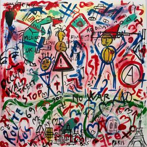 paci2014-leonardo pappone leopapp-graffiti2-5-mistoacrilico su tela- 90x90-2014