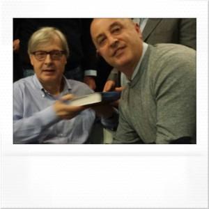 Foto con il Prof. Vittorio Sgarbi Cava dè tirreni 27 marzo 2015 .19