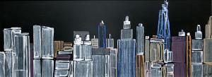 leopapp acrilici su legno titolo Manhattan vista da Brooklyn misure 120x46 cm anno 2013 IMG_2934