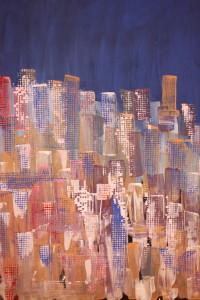 leopapp misto acrilico su tela titolo new york city anno 2013 misure cm. 80x60