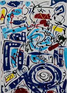 leopapp tecnica misto acrilico su tela titolo Graffit serie 3-2  misure cm 50x70  anno 2014 IMG_2983