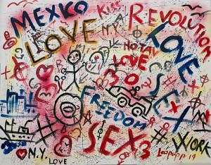 leopapp tecnica misto acrilico su tela titolo Graffiti 1-00 misure cm 70x90  anno 2014  IMG_2907