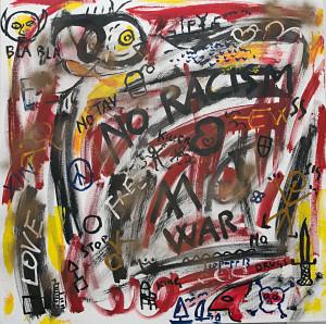 leopapp tecnica misto acrilico su tela titolo Graffiti 1-6  misure cm 90x90  anno 2013 IMG_2895