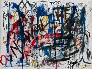 leopapp tecnica misto acrilico su tela titolo Graffiti 2-4  misure cm 70x90  anno 2014   IMG_2905