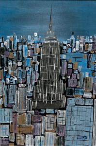 leopapp tecnica misto acrilico titolo Empire state building misure 48 ,5x 72 cm anno 2013 IMG_2968