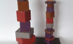 Autore Leopapp Titolo  _______   Dimensioni 27x40x24 cm .Anno 2015 Tecnica Mista  su multimaterico legno,ferro -1
