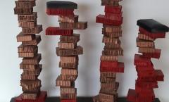 Autore Leopapp Titolo  _______   Dimensioni 58x53x24 cm .Anno 2015 Tecnica Mista  su multimaterico legno,ferro e cartone compresso -1