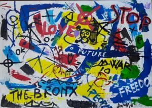 Autore Pappone Leonardo Leopapp tecnica Misto acrilico su tela anno 2014 Titolo Graffiti serie 7 misure 50x70 cm