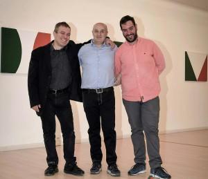 Leonardo Pappone - Leopapp - con Lorenzo Canova e Piernicola Maria Di Iorio curatori della mostra Made in Italy anno 2016 Campobasso