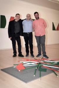 Leonardo Pappone - Leopapp - con Lorenzo Canova e Piernicola Maria Di Iorio curatori della mostra Made in Italy anno 2016 Campobasso-