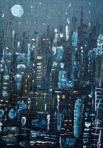 leopapp-tecnica-misto-acrilico-su-sacco-di-juta-titolo-the-blue-of-night-shines-misure-cm-50x70-anno-2015-img_0327