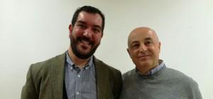 l'artista Leonardo Pappone -Leopapp - e Piernicola Maria Di Iorio curatore della mostra Made in Italy anno 2016 Campobasso- IMG-20170103-WA0011-1
